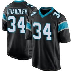Sean Chandler Carolina Panthers Game Youth Team Color Jersey (Black)