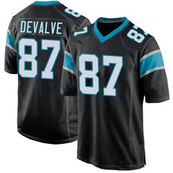 Seth DeValve Carolina Panthers Game Men's Team Color Jersey (Black)