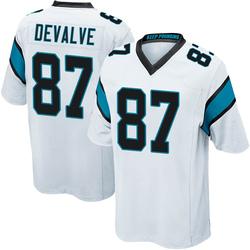 Seth DeValve Carolina Panthers Game Youth Jersey (White)