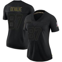 Seth DeValve Carolina Panthers Limited Women's 2020 Salute To Service Jersey (Black)