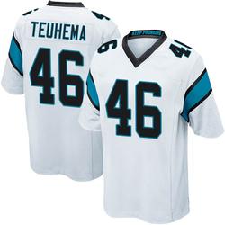 Sione Teuhema Carolina Panthers Game Men's Jersey (White)