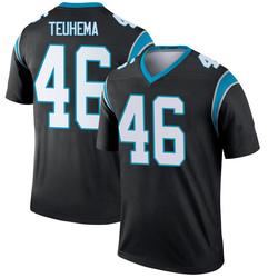 Sione Teuhema Carolina Panthers Legend Men's Jersey (Black)