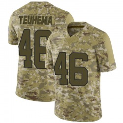 Sione Teuhema Carolina Panthers Limited Men's 2018 Salute to Service Jersey (Camo)