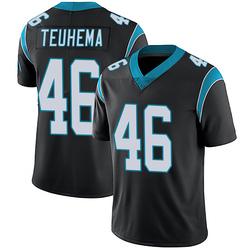 Sione Teuhema Carolina Panthers Limited Men's Team Color Vapor Untouchable Jersey (Black)