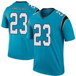 Stantley Thomas-Oliver III Carolina Panthers Legend Men's Color Rush Jersey (Blue)