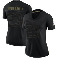 Stantley Thomas-Oliver III Carolina Panthers Limited Women's 2020 Salute To Service Jersey (Black)