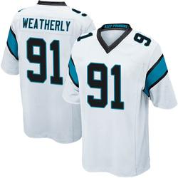 Stephen Weatherly Carolina Panthers Game Youth Jersey (White)