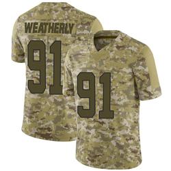 Stephen Weatherly Carolina Panthers Limited Men's 2018 Salute to Service Jersey (Camo)