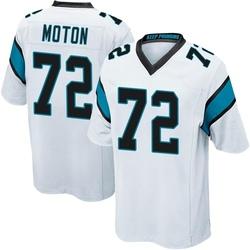 Taylor Moton Carolina Panthers Game Men's Jersey (White)