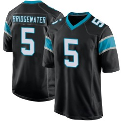 Teddy Bridgewater Carolina Panthers Game Youth Team Color Jersey (Black)