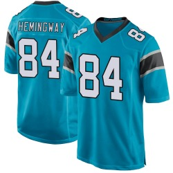 Temarrick Hemingway Carolina Panthers Game Youth Alternate Jersey (Blue)