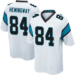 Temarrick Hemingway Carolina Panthers Game Youth Jersey (White)
