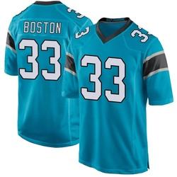 Tre Boston Carolina Panthers Game Men's Alternate Jersey (Blue)