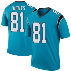 TreVontae Hights Carolina Panthers Legend Men's Color Rush Jersey (Blue)