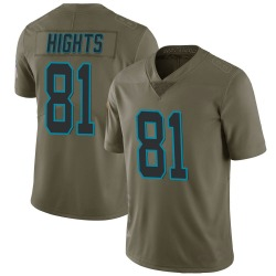 TreVontae Hights Carolina Panthers Limited Men's 2017 Salute to Service Jersey (Green)