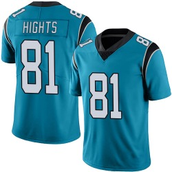 TreVontae Hights Carolina Panthers Limited Men's Alternate Vapor Untouchable Jersey (Blue)