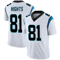 TreVontae Hights Carolina Panthers Limited Men's Vapor Untouchable Jersey (White)