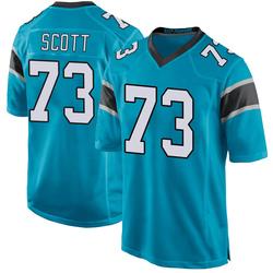 Trent Scott Carolina Panthers Game Men's Alternate Jersey (Blue)