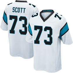 Trent Scott Carolina Panthers Game Men's Jersey (White)
