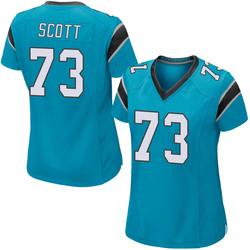 Trent Scott Carolina Panthers Game Women's Alternate Jersey (Blue)