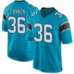 Trenton Cannon Carolina Panthers Game Men's Alternate Jersey (Blue)