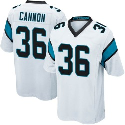 Trenton Cannon Carolina Panthers Game Men's Jersey (White)