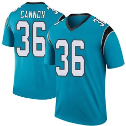 Trenton Cannon Carolina Panthers Legend Men's Color Rush Jersey (Blue)