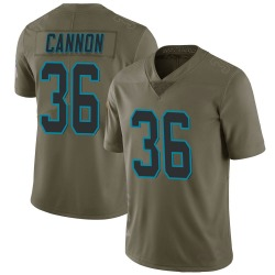 Trenton Cannon Carolina Panthers Limited Men's 2017 Salute to Service Jersey (Green)