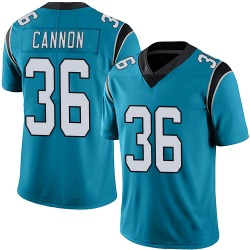 Trenton Cannon Carolina Panthers Limited Men's Alternate Vapor Untouchable Jersey (Blue)
