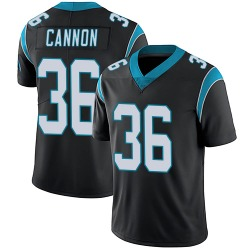 Trenton Cannon Carolina Panthers Limited Men's Team Color Vapor Untouchable Jersey (Black)