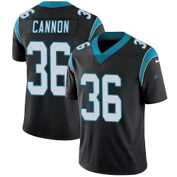 Trenton Cannon Carolina Panthers Limited Youth Team Color Vapor Untouchable Jersey (Black)