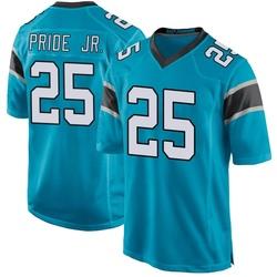 Troy Pride Jr. Carolina Panthers Game Men's Alternate Jersey (Blue)