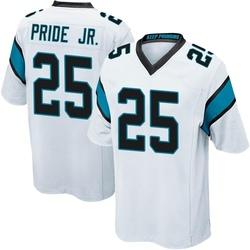 Troy Pride Jr. Carolina Panthers Game Youth Jersey (White)