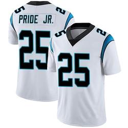 Troy Pride Jr. Carolina Panthers Limited Men's Vapor Untouchable Jersey (White)