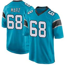 Tyler Marz Carolina Panthers Game Men's Alternate Jersey (Blue)