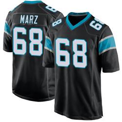Tyler Marz Carolina Panthers Game Men's Team Color Jersey (Black)