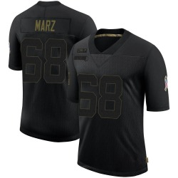 Tyler Marz Carolina Panthers Limited Men's 2020 Salute To Service Jersey (Black)