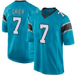 Will Grier Carolina Panthers Game Men's Alternate Jersey (Blue)