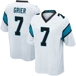 Will Grier Carolina Panthers Game Youth Jersey (White)