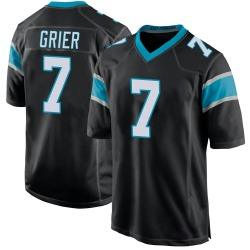 Will Grier Carolina Panthers Game Youth Team Color Jersey (Black)
