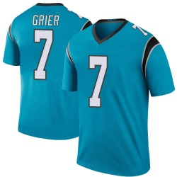 Will Grier Carolina Panthers Legend Youth Color Rush Jersey (Blue)
