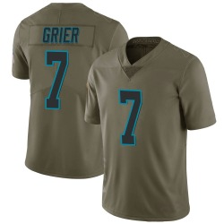 Will Grier Carolina Panthers Limited Men's 2017 Salute to Service Jersey (Green)