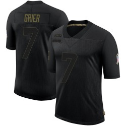 Will Grier Carolina Panthers Limited Men's 2020 Salute To Service Jersey (Black)