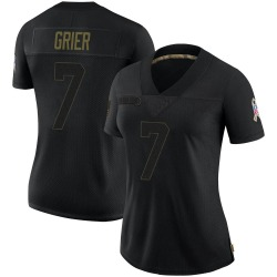 Will Grier Carolina Panthers Limited Women's 2020 Salute To Service Jersey (Black)