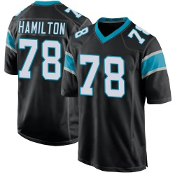 Woodrow Hamilton IV Carolina Panthers Game Youth Team Color Jersey (Black)
