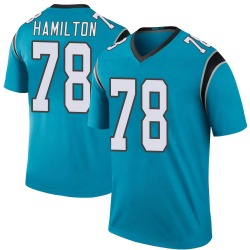 Woodrow Hamilton IV Carolina Panthers Legend Youth Color Rush Jersey (Blue)