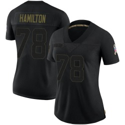 Woodrow Hamilton IV Carolina Panthers Limited Women's 2020 Salute To Service Jersey (Black)