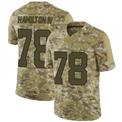 Woodrow Hamilton IV Carolina Panthers Limited Youth 2018 Salute to Service Jersey (Camo)