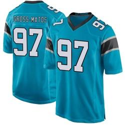 Yetur Gross-Matos Carolina Panthers Game Men's Alternate Jersey (Blue)