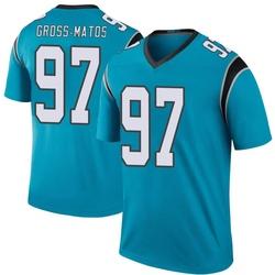 Yetur Gross-Matos Carolina Panthers Legend Men's Color Rush Jersey (Blue)